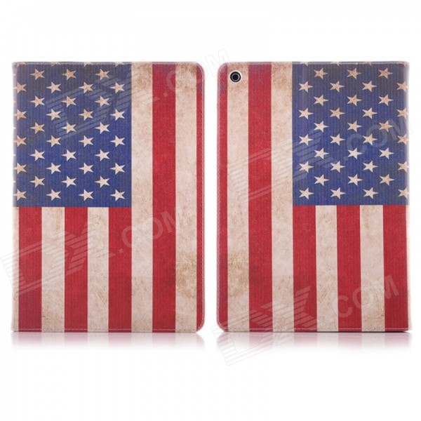 Hat-Prince Retro US Flag Pattern Flip Open PU Case w/ Stand for IPAD MINI 1 / 3 / RETINA IPAD MINI 2 funny moustaches pattern pu leather flip open case w stand for ipad 2 the new ipad ipad 4