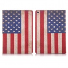 Hat-Prince Retro US Flag Pattern Flip Open PU Case w/ Stand for IPAD MINI 1 / 3 / RETINA IPAD MINI 2