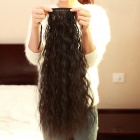 57cm Curly Fiber Hair Ponytail Extension Clip Wig - Black