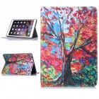 Hat-Prince Maple Tree Pattern Flip Open PU-Kasten w / Stand / Card Slots / Auto-Sleep für IPAD AIR 2