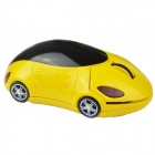 Mini coche de deportes de estilo 2.4GHz Wireless Mouse - Amarillo + Negro