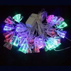 15W 500lm 28-LED RGB Christmas Hat Shaped dekoratiivinen Lamppu Light String (4M / 220V / US Tulpat)