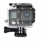 "F42 Waterproof Sports 0.8"" LCD CMOS 5MP / 12MP Wi-Fi HD Camera / Camcorder - Black"