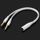 3.5mm Male to Female Audio Microphone Adapter Cable - White (17cm)