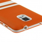 Hat-Prince Protective TPU Soft Case for Samsung Galaxy Note 4 N9100 - Orange + White