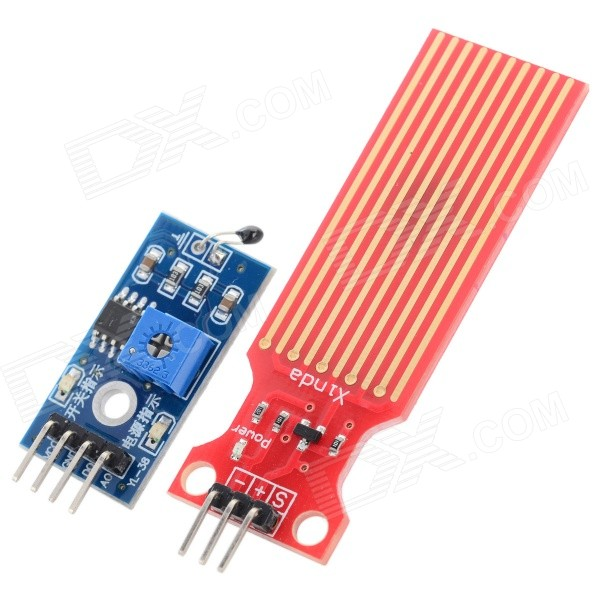 Thermal Temperature Sensor Module + Water Sensor Module for Moisture / Drop / Depth of Water Test