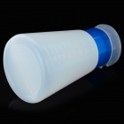 Conical Nail Polish Remover Liquid Container Bottle - Translucent White + Blue (180ml)