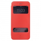 Baseus Pureview Series Flip-open PC + PU Leather Case w/ Window / Stand for IPHONE 6 PLUS - Red
