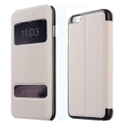 Baseus Pureview Series Flip-open PC + PU Leather Case w/ Window / Stand for IPHONE 6 PLUS - White