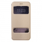 Baseus Pureview Series Flip-open PC + PU Leather Case w/ Stand for IPHONE 6 PLUS - Champagne Gold