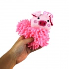 Piggy Style Hanging Microfiber Water Absorption Towel - Pink + Black
