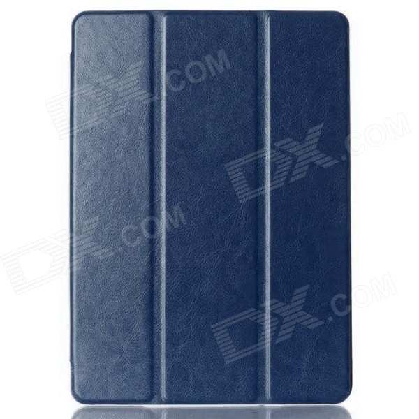 Protective PU Leather Case Cover w/ Stand + Auto Sleep for IPAD AIR 2 - Deep Blue silver wings silver wings кольцо 21sr000784c 1 96