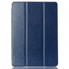 Protective PU Leather Case Cover w/ Stand + Auto Sleep for IPAD AIR 2 - Deep Blue
