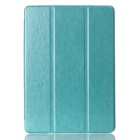 Protective PU Leather Case Cover Stand w/ Auto Sleep for IPAD AIR 2 - Sky Blue