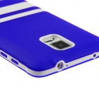 Hat-Prince Protective TPU Soft Back Case for Samsung Galaxy Note 4 N9100 - Blue + White