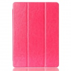 Protective PU Leather Case Cover w/ Stand + Auto Sleep for IPAD AIR 2 - Deep Pink