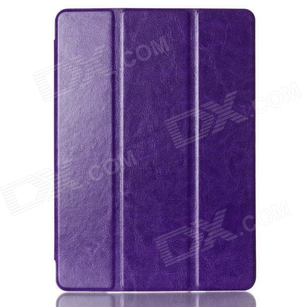 Protective PU Leather Case Cover Stand w/ Auto Sleep for IPAD AIR 2 - Purple protective pu leather case cover stand w auto sleep for ipad air 2 purple