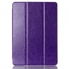 Protective PU Leather Case Cover Stand w/ Auto Sleep for IPAD AIR 2 - Purple