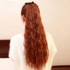 57cm Curly Fiber Hair Ponytail Extension Clip Wig - Light Brown