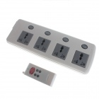 2200W 4-Outlet à distance AC Power Control Socket Bar Strip w / commutateur individuel (86-265V / UA Plug)