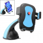 OUMILY 360 Degrees Rotation Adjustable Car Mounted Cellphone Holder w/ Suction Cup - Black + Blue