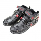 PRO-BIKER A-9005 Motorcycle Fall Proof Wear-Resisting Off-Road Racing Shoes Boots - Black (Size 41)