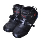 PRO-BIKER A-9005 Motorcycle Fall Proof Wear-Resisting Off-Road Racing Shoes Boots - Black (Size 43)