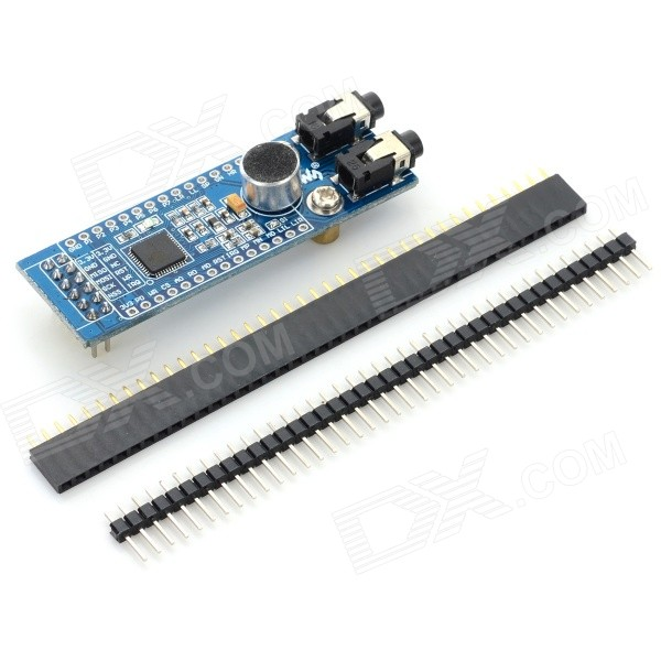 LD3320 Board (B) Voice Recognition Controlling / Playing Module + 40-Pin Pin Header - Blue + Black rapoo h6080 folding bluetooth v4 0 microphones w voice recognition white blue