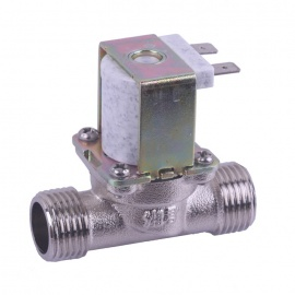 """ZnDiy-BRY DC 12V G1/2"""" N/C Brass Inlet Solenoid Valve w/ Water-proof Case for Water Control"""