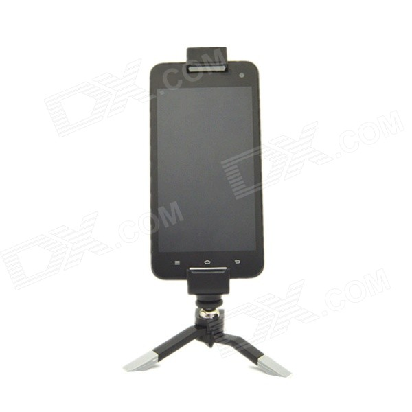 Universell Mini justerbar uttrekkbar Tripod stativ Holder for IPHONE/IPAD MINI / Samsung - svart + grå
