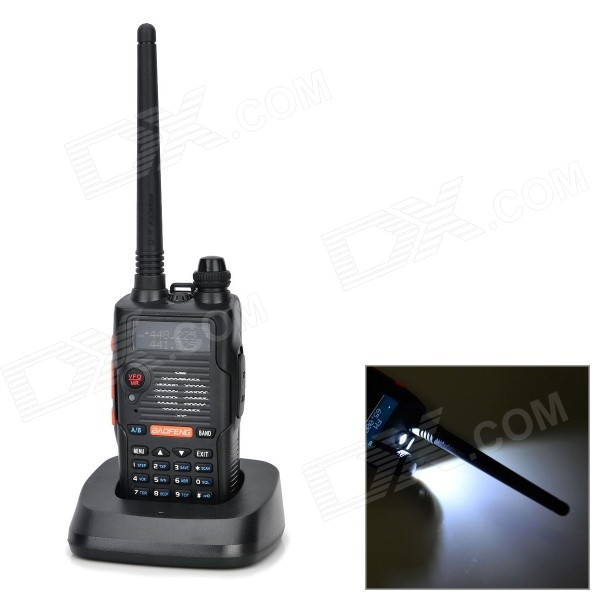 BAOFENG E500S 128-CH Dual Band Walkie Talkie w/ FM / LED - Black