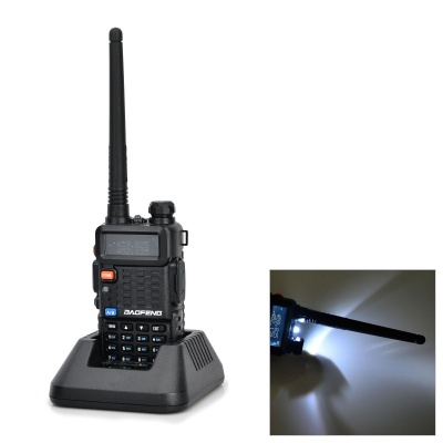 BAOFENG F8+ PVC 128-CH Dual Band Walkie Talkie w/ FM / LED - Black