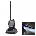 BAOFENG 5RPIUS PVC + Steel 128-CH Dual Band Walkie Talkie w/ FM / LED - Black