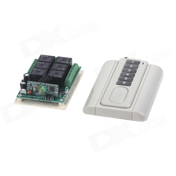 ZnDiy-BRY 12V 6CH Multi-functional Learning Code Remote Control Switch + 6-Key Remote Control