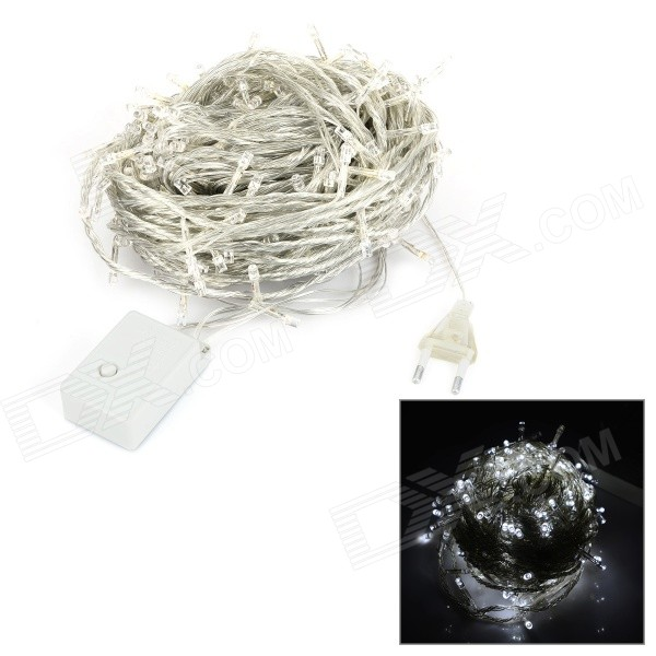 30W 150lm 6500K 300-LED Cool White Christmas Light String - White + Transparent (30M / AC 220~240V)