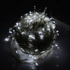 30W 150lm 6500K 300-LED Cold White Christmas Light String - Белый + Прозрачный (30M / AC 220 ~ 240 В)