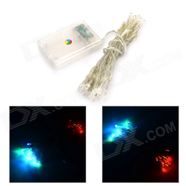 Waterproof 3W 150lm 30-LED Colorful String Light - White + Transparent (DC 12~24V / 323cm) ip65 waterproof 3w 45lm 450nm 30 led ice blue string light white transparent dc 12 24v