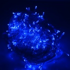 30W 150lm 7000K 300-LED Ice Blue Christmas Light String - White + Transparent (30M / AC 220~240V)