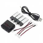 X4-010 4 x 3.7V 150mAh Li-polymer Battery + 1-to-4 Balance Charger + 4 x Charger Cable Set