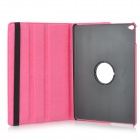 Protective Ultra-Slim PU Leather + ABS Plastic Case w/ Stand for IPAD AIR 2 - Deep Pink