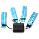 X4-006 4*3.7V 520mAh Li-polymer Battery + Charger Set - Black + Silver