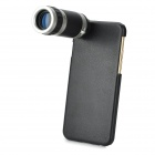 "8X Magnification Telescope Lens + Back Case Set for IPHONE 6 4.7"" - Black"