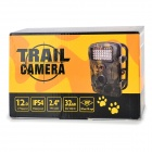 "RD1000 Outdoor Waterproof 2.4"" TFT 1/3"" CMOS 5.0MP Camera w/ 42-LED / 2-IR LED / SD - Black"