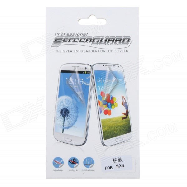 Protective PET Clear Screen Guard Film for Meizu MX4 - Transparent