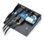 Multi-Function USB 3.0 HD Audio Alusta Etupaneelin Board - Musta