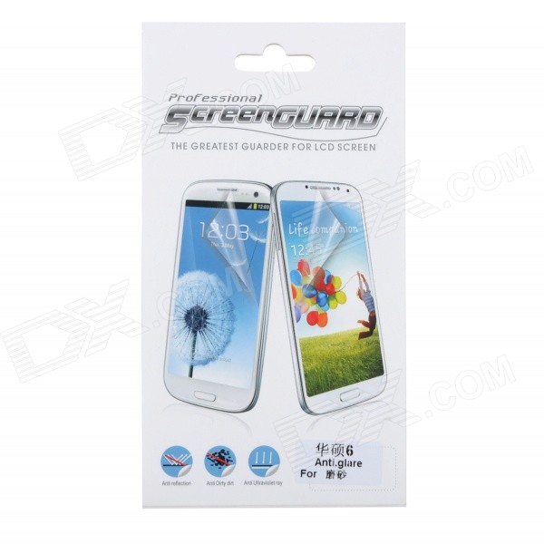 Protective PET Matte Screen Guard Film for Asus ZenFone 6 - Transparent