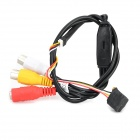 "Mini 1/4"" CMOS Camera Module w/ RCA Female Cable - Black"