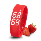 "Multifunctional 1"" LED USB Smart Bracelet Watch w/ 3D Pedometer & Sleep Monitor Functions - Red"