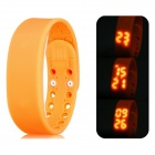 "Multifunctional 1"" LED USB Smart Bracelet Watch w/ 3D Pedometer & Sleep Monitor Functions - Orange"