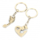 Romantic Detachable Key Chain / Keyrings for Couple / Lovers - Silver
